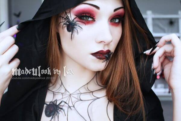 spider makeup ideas for halloween