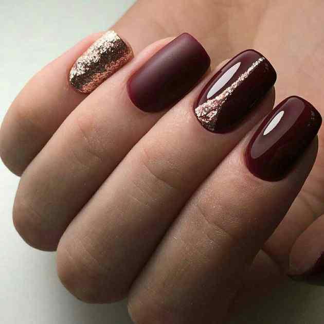 trendy dark glossy glitter winter festive color ideas