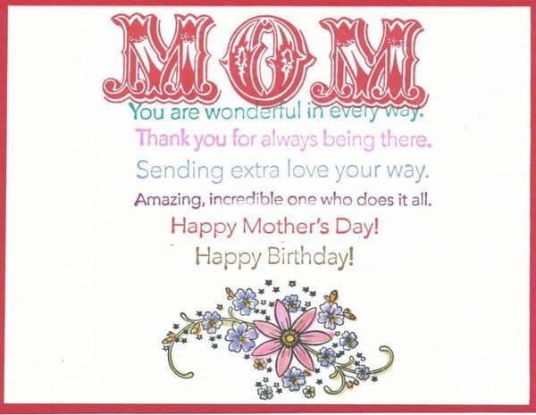 birthday messages for amazing mother