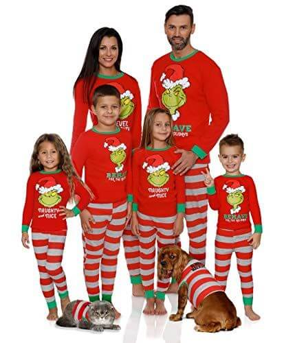 family christmas grinch pajama outfits