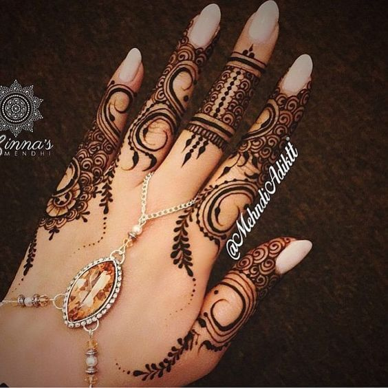girls floral jewelry mehandi designs for fingers