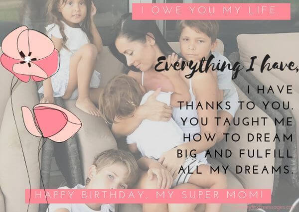 happy birthday messages for super mom