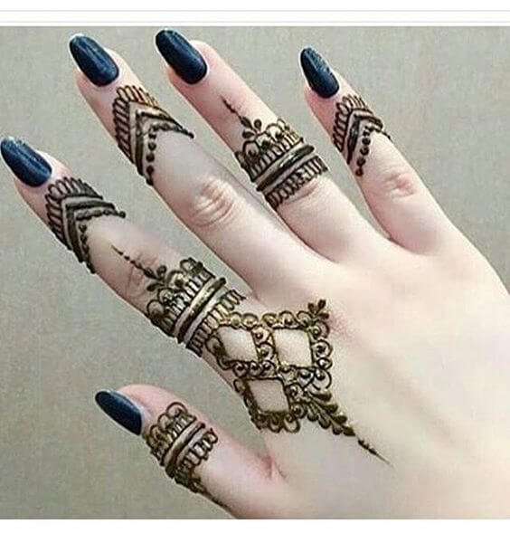new ring style mehndi pattern designs for 2020