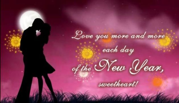 romantic happy new year message for sweetheart