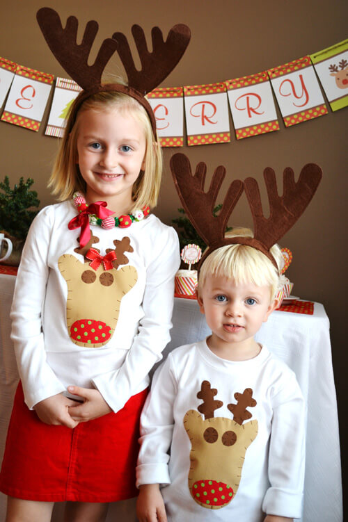 rudolph reindeer party outfit ideas for kids