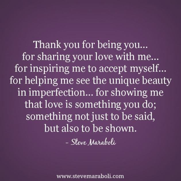 thank you for being you quotes for love