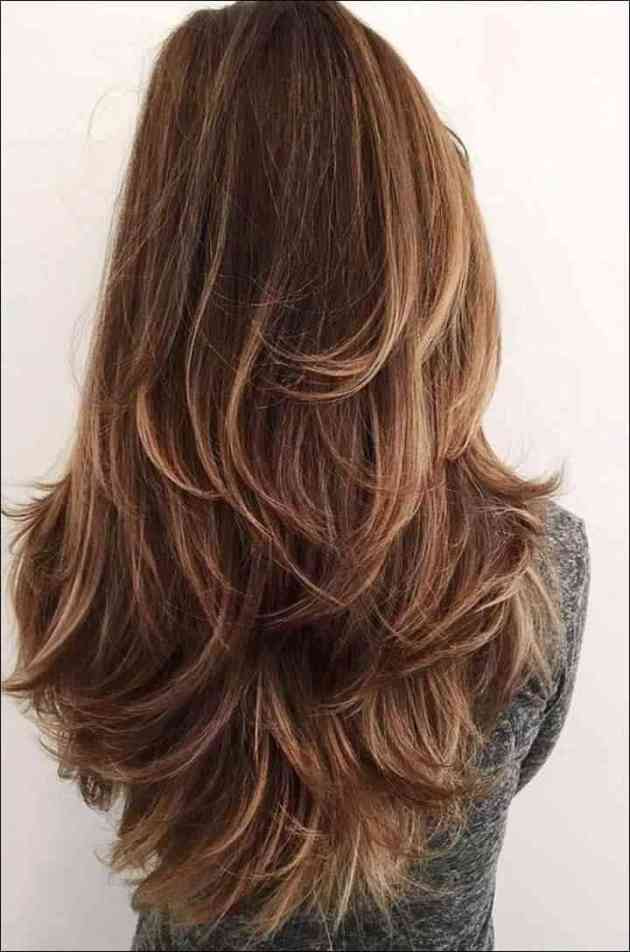 layered haircut in long hair
