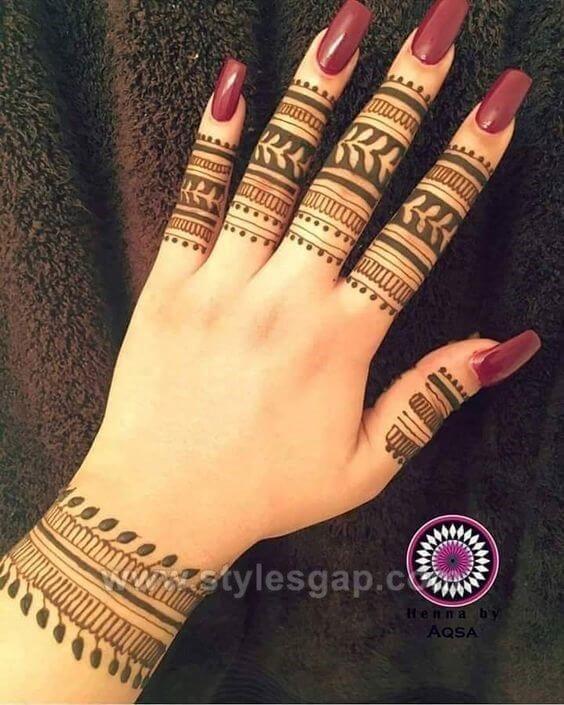 beautiful floral bracelet mehndi design