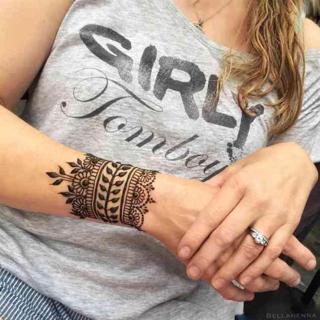 henna bracelet design by rachel goldman