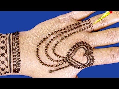 classic valentines day chain mehndi design