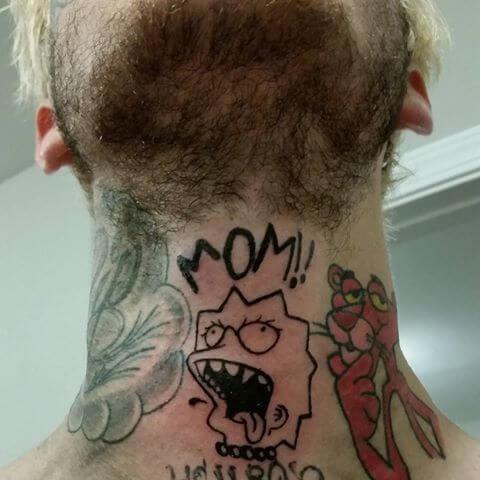 lil peep mom tattoo design on neck