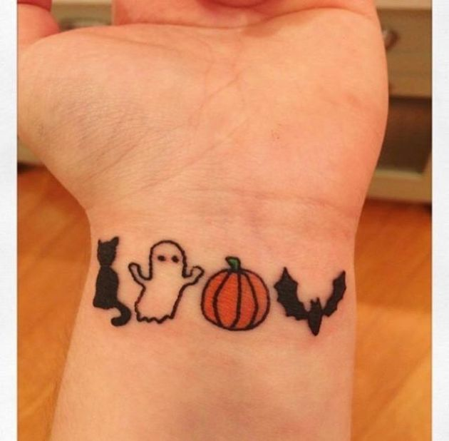 cool small halloween tattoos for wrist