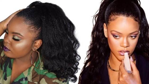 loose natural hair high ponytail