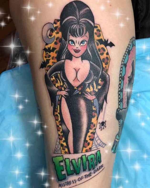 animated elvira mistress of dark tattoo