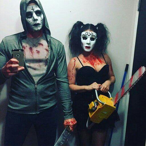 diy creepy purge halloween costume idea