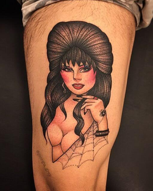 elvira mistress of the dark tattoo