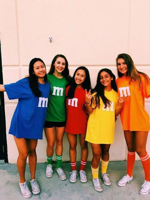 group m and m halloween costumes for 5 girls
