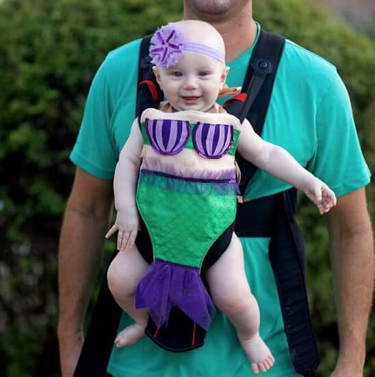 mermaid baby carrier halloween costume idea