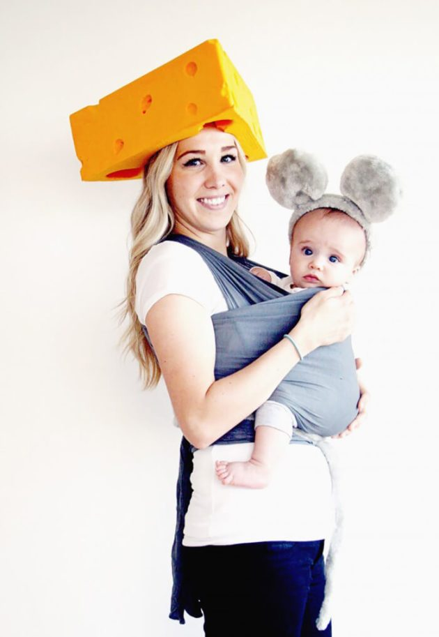 mouse baby carrier halloween costume idea