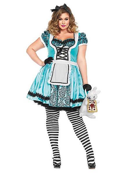 alice in wonderland homemade plus size halloween costume idea