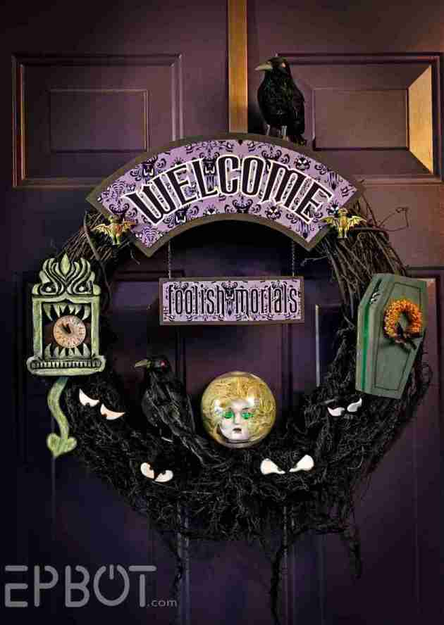 disney haunted mansion wreath decor ideas