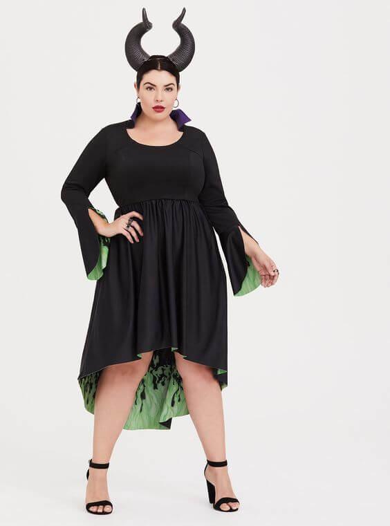 disney maleficent dress homemade plus size halloween costume idea