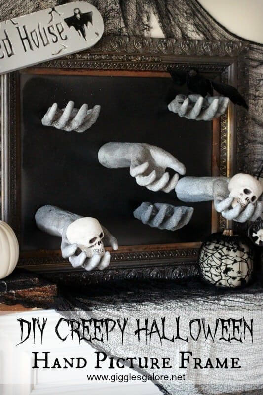 diy haunted mansion picture frame decor ideas