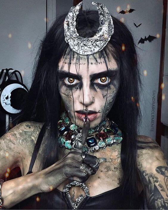 diy scary suicide squad enchantress halloween costume idea