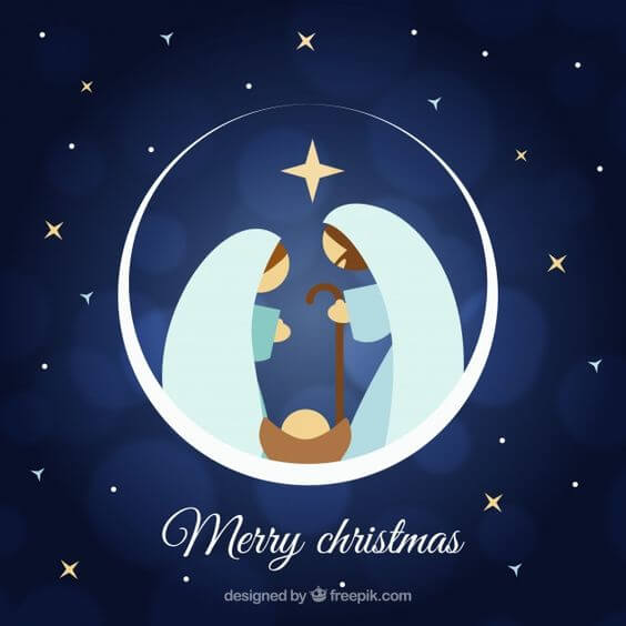 free merry christmas religious image
