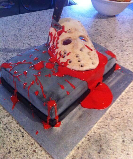 happy birthday halloween friday 13th cake idea