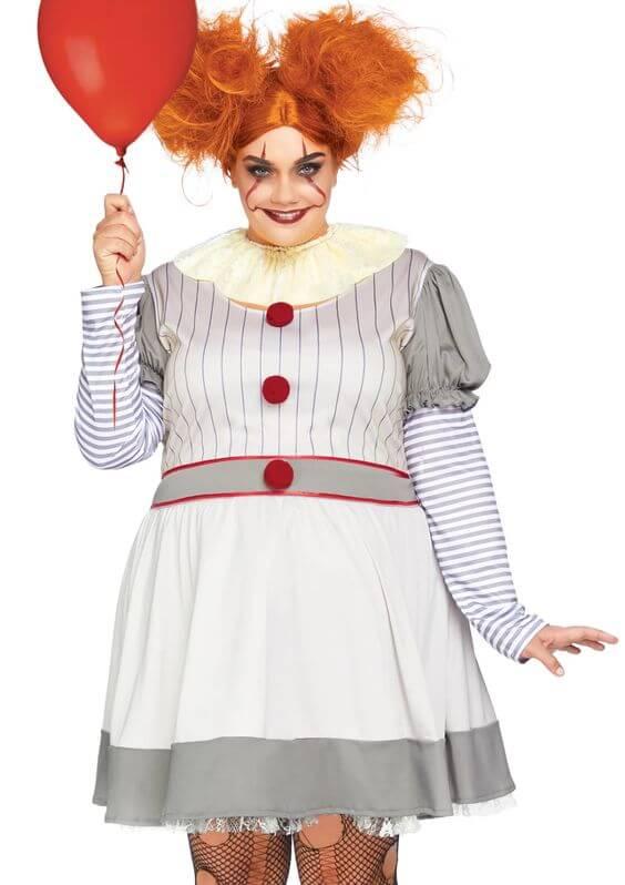 homemade clown plus size halloween costume idea