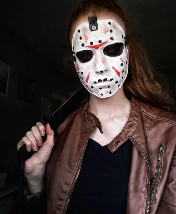 jason voorhees mask facepaint getup idea for halloween