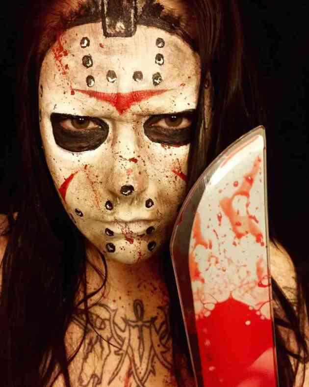 jason voorhees mask facepaint makeup idea for halloween