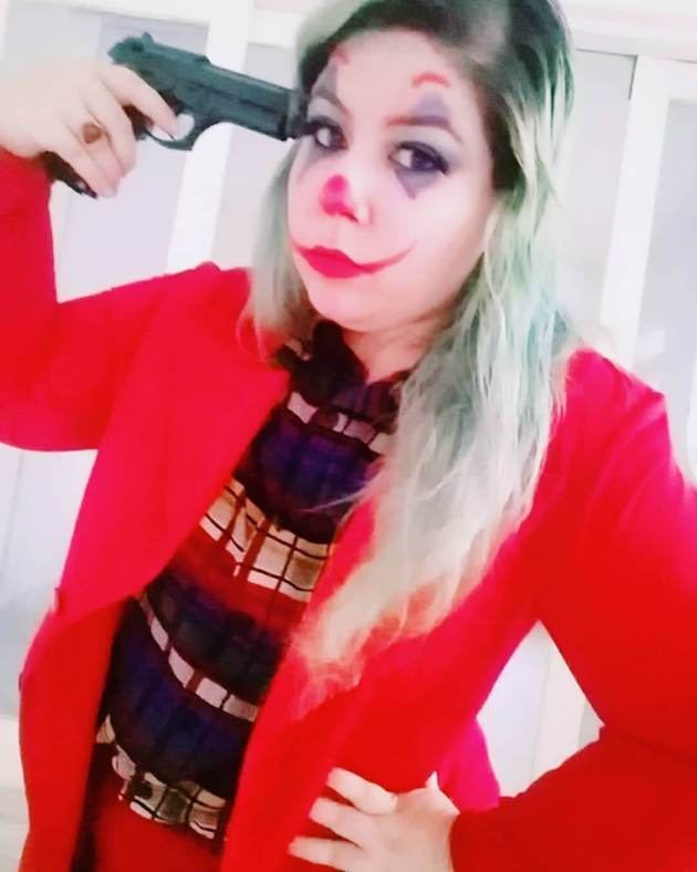 diy joker plus size halloween costume idea