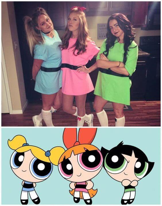 powerpuff girls group halloween costumes for work