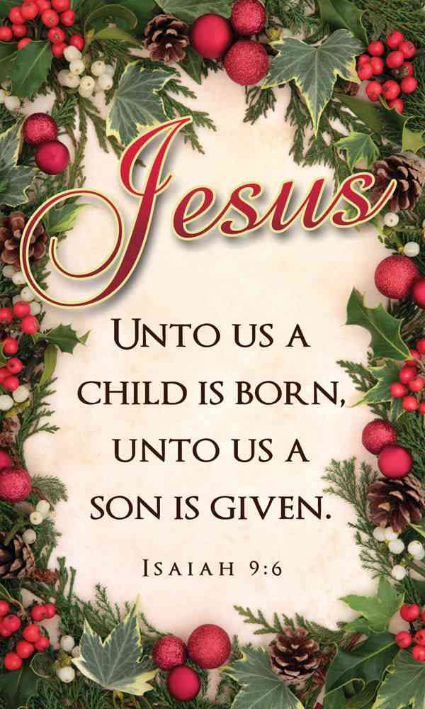 religious christmas quote from Isaiah
