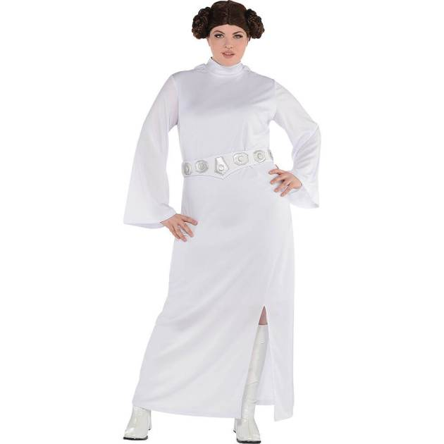 star wars princess leia home made plus size halloween costume idea