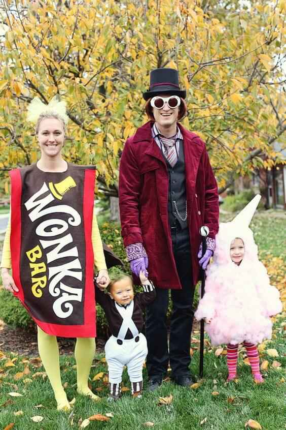 willy wonka family halloween costumes ideas