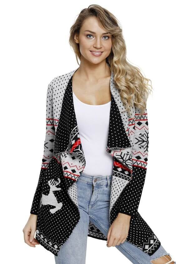casual christmas cardigan ideas for females