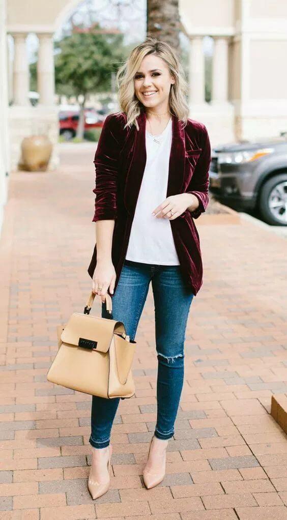 casual female velvel jacket dress ideas for christmas holidays