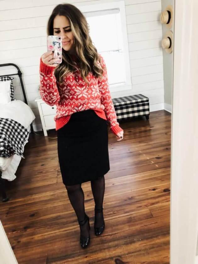 casual pencil skirt christmas dress ideas