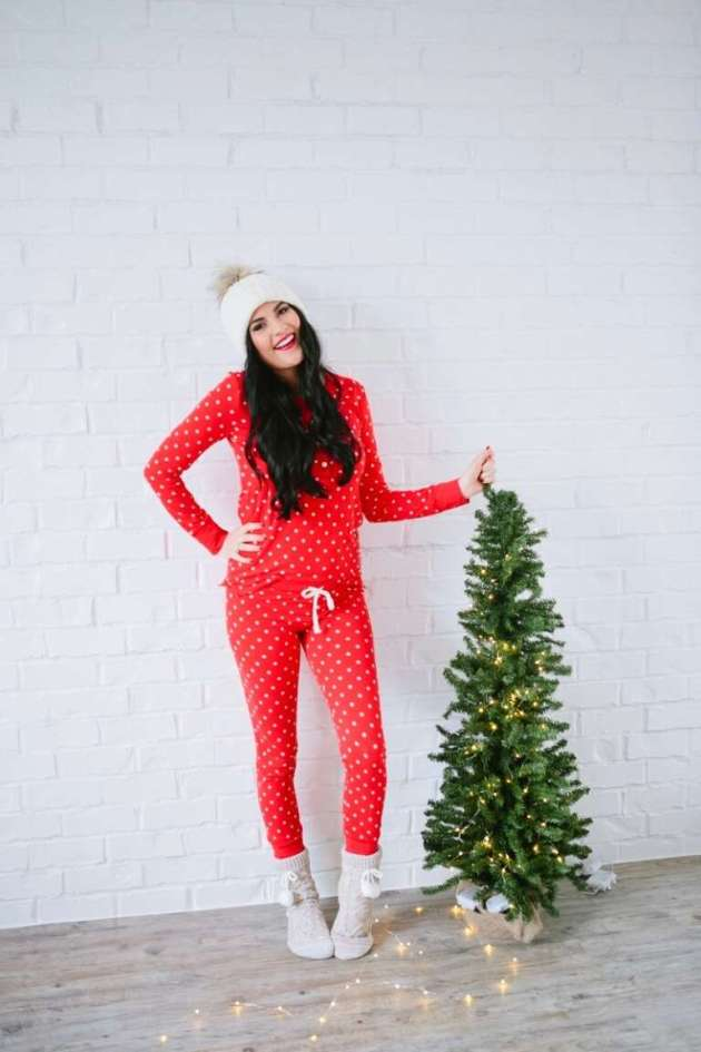 j crew casual christmas pajama outfit ideas for females