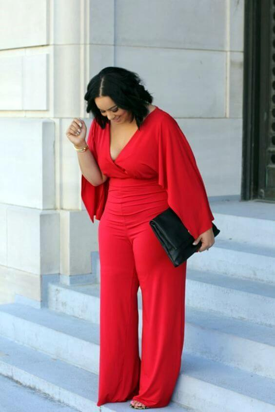 red christmas outfit ideas for plus size women