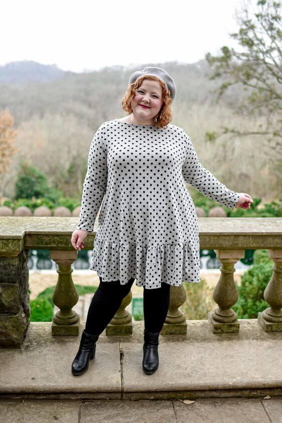 polka dot dress for plus size women