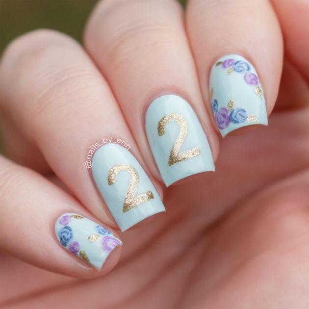 happy 22nd birthday nails