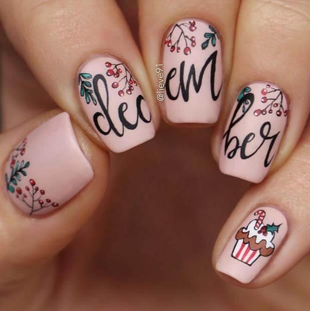 birth month inspired nails design