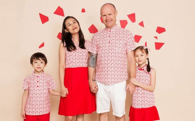 chinese matching family outfit ideas for new year