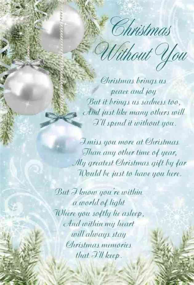 missing you at christmas poem for him-her who has died
