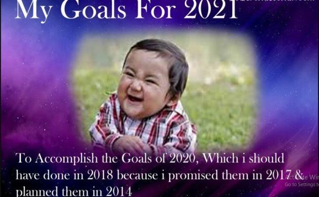 funny new year 2021 goals meme