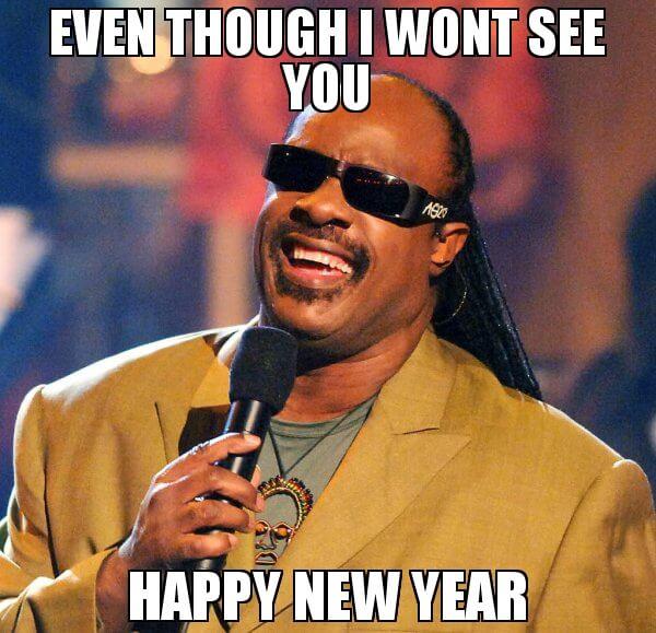 blind man happy new year meme